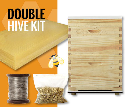 Beekeeping Starter Kit - Double Bee Hive Beekeeper